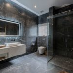Bathroom at Vova Village, a luxury and private estate of 3 bedroom pool villas located in Chaweng, Koh Samui, Thailand
