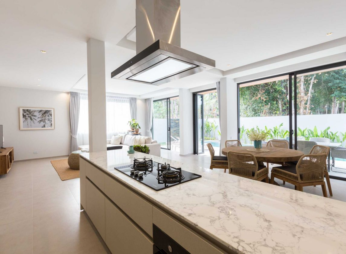 Kitchen at Vova Village, a luxury and private estate of 3 bedroom pool villas located in Chaweng, Koh Samui, Thailand
